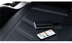 Gamingsessel McRACING Bürostuhl Mesh weiß schwarz inkl. LED mit 12 Farben