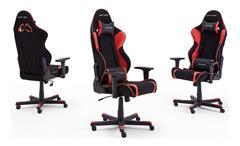 Schreibtischstuhl Game Chair Bürostuhl DX RACER R1 schwarz rot