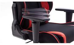 Game Chair Schreibtischstuhl DX RACER R1 Bürostuhl schwarz rot