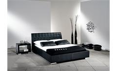 Polsterbett SABI Bett Doppelbett in Schwarz 140x200 cm