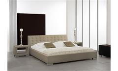 Polsterbett SABI Doppelbett Bett in Beige-Braun 180x200 cm