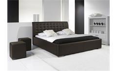Polsterbett SABI II Bett in Braun mit Komforthöhe 180x200