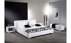Polsterbett DELGADO Bett Doppelbett in Weiß 140x200 cm
