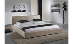 Polsterbett DELGADO Bett in Beige/Braun 180x200 cm