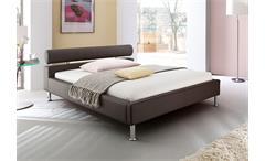 Polsterbett MANELLI Designer Bett in Braun 140x200 cm