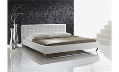 Polsterbett PASADENA Doppelbett in weiß 180x200