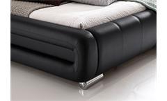 Polsterbett Bolzano Bett schwarz 180x200 cm