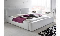Polsterbett CASSINI Bett in Lederlook weiß 180x200 cm