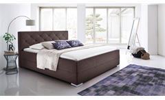 Bett Chicago Schlafzimmerbett Jugendzimmerbett Doppelbett dunkelbraun 180x200 cm