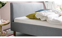 Polsterbett Belli Bett in eisblau 120x200 cm inkl. Kopfteil Schlafzimmer Doppelbett