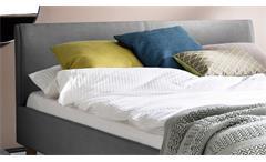 Polsterbett Belli Bett mit Kopfteil in hellgrau 140x200 cm Doppelbett Schlafzimmer