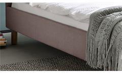 Polsterbett Belli Bett mit Kopfteil in rosa 140x200 cm Doppelbett Schlafzimmer