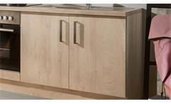Küchenzeile Andrea Küchenblock in Asteiche Nachbildung inkl. E-Geräten 270 cm