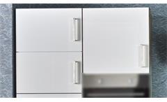 Küchenzeile Jasmin Küche in weiß Hochglanz und Sonoma Eiche Küchenblock 230 cm