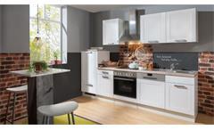Küchenzeile MATRIX weiß Asteiche Landhausstil 280 cm