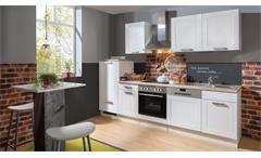 Küchenzeile MATRIX weiß Asteiche mit E-Geräten und Spüle