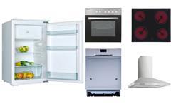 Küchenzeile Matrix weiß Asteiche inkl. E-Geräten Küche Landhausstil 280 cm
