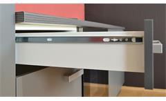 Singleküche Greta in hellgrau und Graphit Pantryküche mit E-Geräten und Spüle