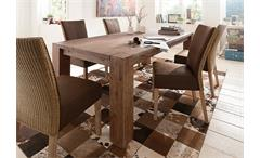 Esstisch Big Pure Esszimmertisch Tisch Esszimmer Akazie massiv smoke 200x100 cm