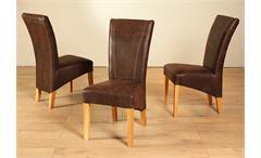 Tischgruppe Rustiko Lord Tisch Bank 5 Stühle Wildeiche massiv geölt und antik