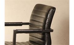 Tischgruppe Manhattan Parcival 1 Tisch 4 Stühle in Akazie massiv schwarz 180 cm