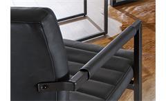 Schwingstuhl Parzival 4er Set Stuhl in anthrazit Eisen grau mit Armlehne