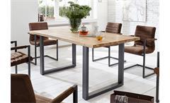 Esstisch Miami Beach Esszimmertisch Tisch Eiche massiv geölt Eisen 200x100 cm
