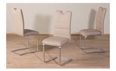 Schwingstuhl Nicole 4er-Set Stuhl Freischwinger Esszimmerstuhl in schlamm