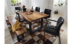 Schwingstuhl Parzival 2er-Set Stuhl in schwarz Glanz Eisen grau mit Armlehne
