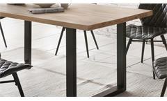 Esstisch Palm Beach Esszimmertisch Tisch in Kernbuche massiv geölt Eisen 180x90