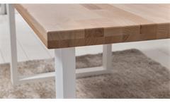 Tischgruppe PALM BEACH STOCKHOLM Kernbuche weiß 200x100