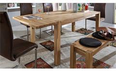 Esstisch Paulas Esszimmertisch Tisch Eiche massiv geölt ausziehbar 140-220x90
