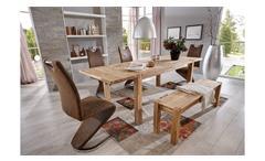 tischgruppe paulas 160 cm eiche massiv ge lt antik 6 tlg. Black Bedroom Furniture Sets. Home Design Ideas