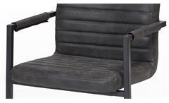 2er Set Schwingstuhl Parzio Freischwinger Lederlook schwarz Esszimmer Stuhl