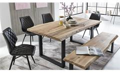 Tischgruppe TRISTAN STOCKHOLM Eiche mit Baumkante 5-teilig