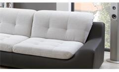 Sofagarnitur 3-2 Spike Sofa in hellgrau und anthrazit inkl. Nosagfederung