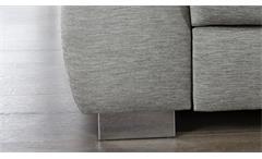 Ecksofa Instinct Wohnlandschaft Stoff grau Füße Metall mit Kopfteilverstellung
