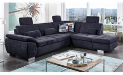Ecksofa Surprise Sofa Wohnlandschaft Polstermöbel Bezug in Stoff dunkelblau