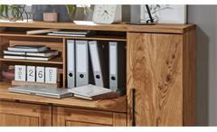 Sekretär Highboard Schrank Home Office 5494 Newcastle Charakter Eiche teilmassiv