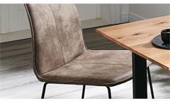 Tresenstuhl Barstuhl Barhocker Stuhl TS31 Bodega Microfaser stone Eisen schwarz