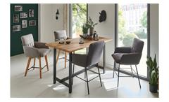 Tresenstuhl Barstuhl Stuhl 2222 Siesta Struktur Stoff schlamm 180° drehbar
