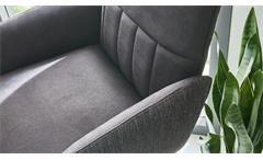 Tresenstuhl Barstuhl Stuhl 2212 Siesta Struktur Stoff dunkelgrau 180° drehbar