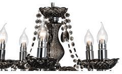 Kronleuchter Marie chromfarbig Acryl schwarz Krone Hängeleuchte Deckenleuchte