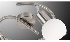 LED Deckenleuchte Loxy 3-flg Nickel Glas weiß Spirale Lampe mit Leuchtmittel