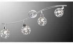 LED Deckenspot LARGA Chrom Metall Acryl-Deko 4-flg mit Leuchtmittel