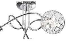 LED Deckenleuchte Larga Deckenlampe Chrom Metall Acryl-Deko 3-flg Leuchtmittel