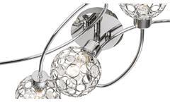 LED Deckenspot Larga Deckenleuchte Chrom Metall Acryl-Deko 5-flg Leuchtmittel