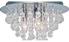 Deckenleuchte London Deckenlampe 3-flammig chromfarbig mit Glasbehang klar