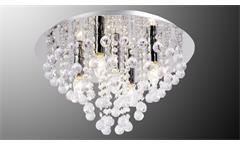 Deckenleuchte London Deckenlampe 5-flammig chromfarbig mit Glasbehang klar