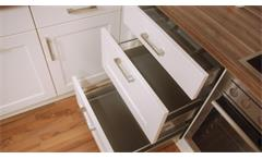 Einbauküche Nobilia Ausstellungsküche Küche magnolia matt Country Oak E-Geräte